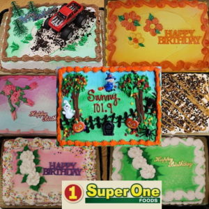Get the cake that says it all with UPBargains.com and Super One Foods of Marquette.