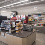 The store has hot food sections for a quick, filling snack.
