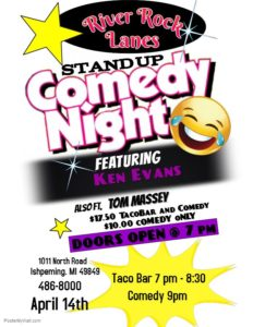 Attend Comedy Night at River Rock Lanes