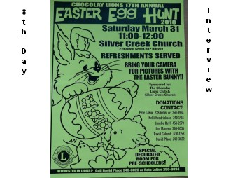 Chocolay Lions 17th Annual Easter Egg Hunt Pete LaRue Interview
