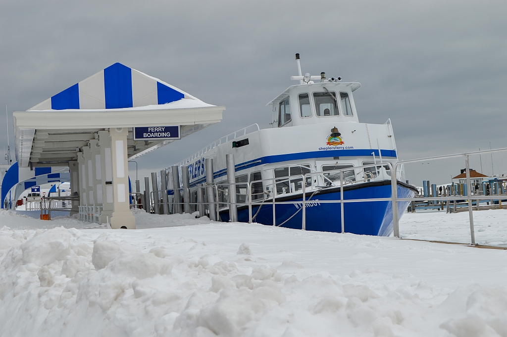 Still lots of ice and snow on the Lake in Mackinaw City/St. Igance