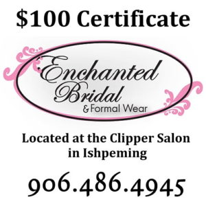 Find the dress for you with Enchanted Bridal in Ishpeming.