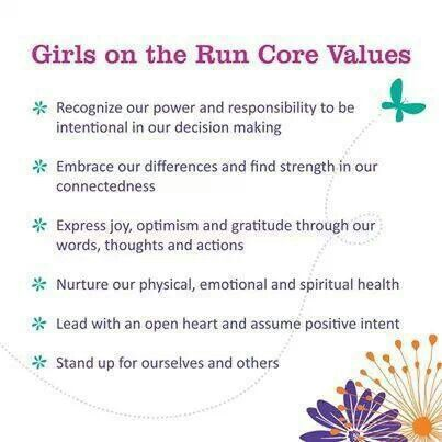 Girls on the Run Core Values