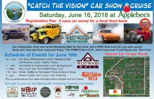 "Save the Date for the ""Catch the Vision"" Car Show and Cruise on June 16th."