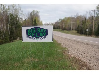 Big Bay Relay from Marquette to Big Bay May 19th along County Road 550 (credit - NTN Facebook by permission)