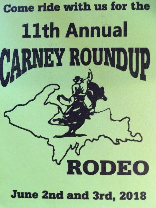 Carney Round-UP 11th Annual Poster June 2nd-3rd 2018