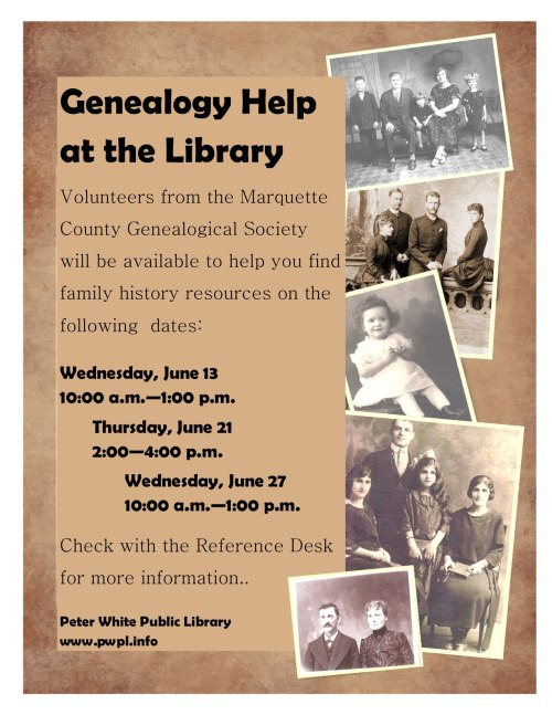 Extensive Genealogy Help Available at Peter White Public Library