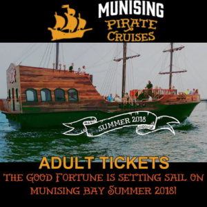 Get your adult tickets for Munising Pirate Cruise