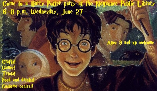 Negaunee Public Library Harry Potter Party June 27