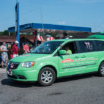 Can't miss that bright green ServPro van!