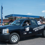 TV6 drove their truck in the parade.