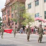 Everyone was clapping and cheering as the troops went by.