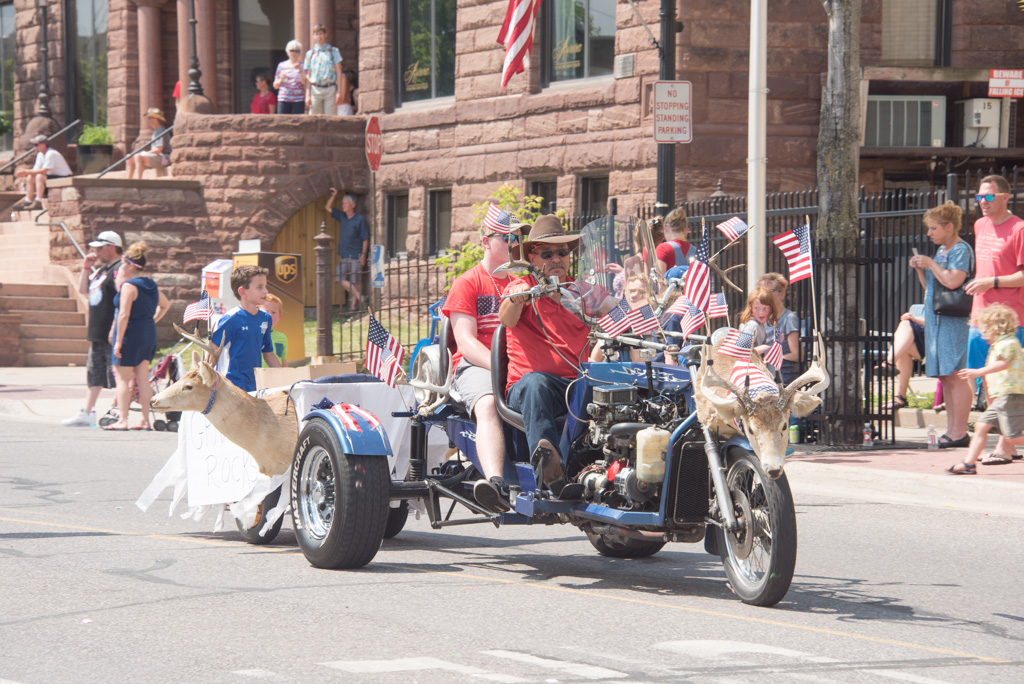 The Marquette 4th of July Parade on Washington Street.