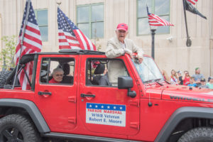 Robert E. Moore, the WWII veteran and Parade Marshall.