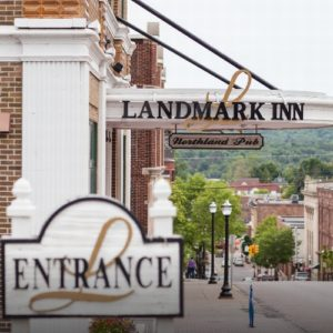 Dine at one of the three restaurants in the Landmark Inn in Marquette.