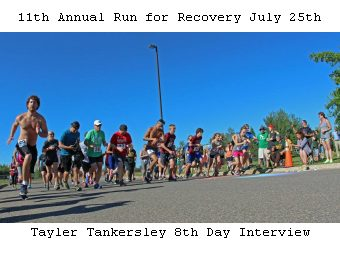 Tayler Tankersley 8th Da Interview about GLRC's 11th Annual Run for Recovery July 25th