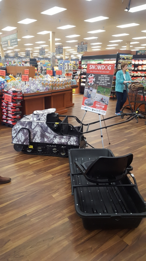 Register to win the Snowdog & Sled from Four Seasons Small Engine.