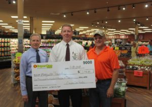 Super One Foods Presents Check to Marquette Township - August 10, 2018 - 001