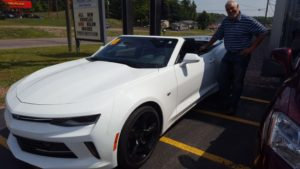 Bill Tibor with a 2017 Camaro