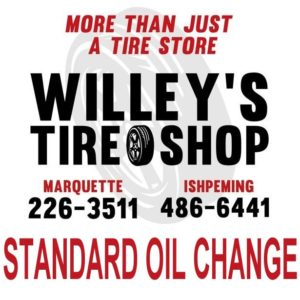 Get your oil changed at Willey's Tire Shop in Marquette or Ishpeming.