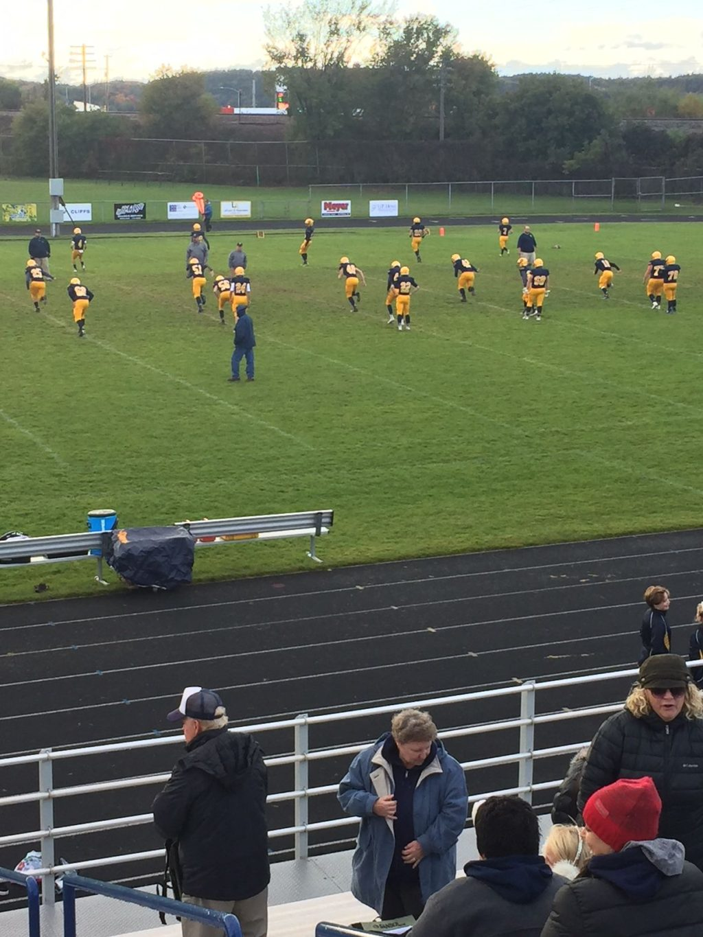 The Miners Warm Up