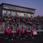 The was a large crowd charging for both teams tonight.