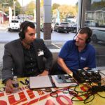 Mark live on the air from the open house