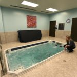 The aquatic therapy pool at the Great Lakes Sports Medicine and Life Performance Institute