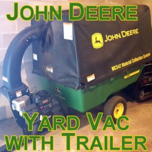 Clean up your yard with a John Deere Yard Vac