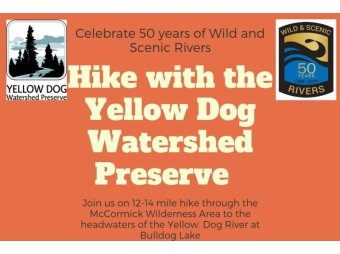 Yellow Dog Water Shed Preserve October 20th Hike into the McCormick Wilderness Area to Bulldog Lake