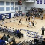 Miners action on the court