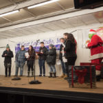 He just wanted to sing with the NMU kids!