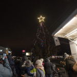 The tree is lit!