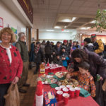 Barb Wiegand manning the cookie station.