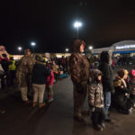 People loved listening to the Christmas carols.
