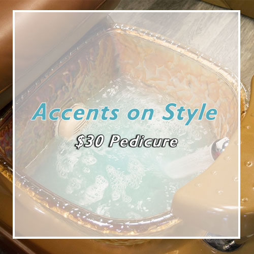 Get a pedicure from Dawn at Accents on Style for just $20.