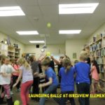 Launching Balls at Birch View Elementary - Westend Gearbusters