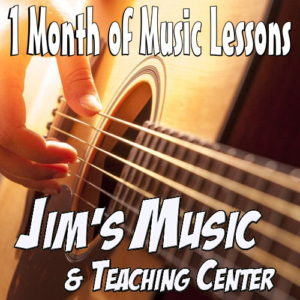 Get 1 Month of Lessons from Jim's Music.