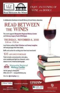 Read Between the Wines - November 8th at Marquette Regional History Center