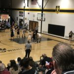A Miner shoots a free throw.