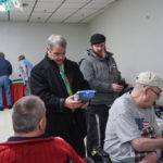 Pete Kolbus from Super One Foods helping out one of the vets.