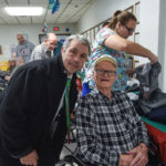 Pete Kolbus and a veteran during Christmas is For Veterans.