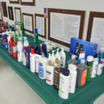 The toiletries table was very popular.