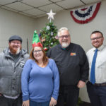 Alex, Nancy, Walt, and Bruce at the D.J. Jacobetti Center for Christmas is For Veterans.