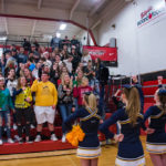 A number of Negaunee students came out to cheer on their Miners boys basketball team.