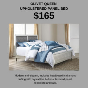 Save big on a new queen bed at Ashley HomeStore - just $165!