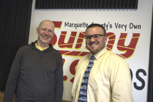 Daniel Young, owner at Black Fly CrossFit and Bruce Whitehead in the Sunny.FM 101.9 studio.