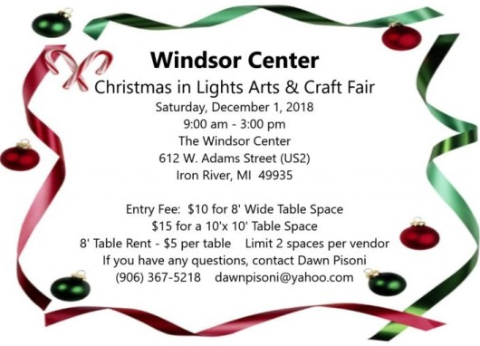 Dawn Pisoni 8th Day Interview - Christmas in Lights Craft Show at Windsor Center December 1st Iron River Michigan Flyer