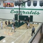 Manistique with the ball, trying to claw their way back