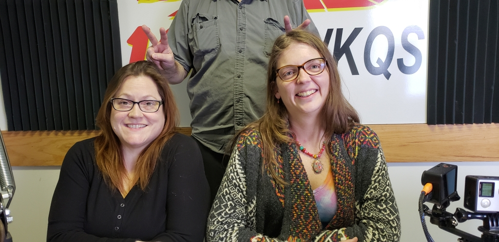 """Nancy and Abbie doing their """"Out with the old, in with the new"""" interview on Sunny.FM's The 8th Day radio show."""